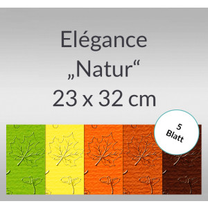 "Elegance ""Natur"" 220 g/qm 23 x 32 cm - 5 Blatt"