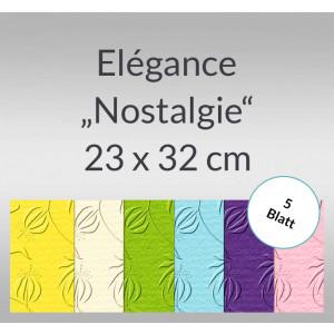 """Elegance """"Nostalgie"""" 220 g/qm 23 x 32 cm - 5 Blatt"""