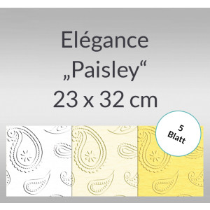 "Elegance ""Paisley"" 220 g/qm 23 x 32 cm - 5 Blatt"