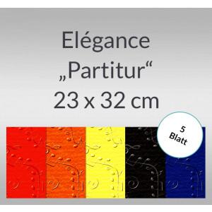 """Elegance """"Partitur"""" 220 g/qm 23 x 32 cm - 5 Blatt"""