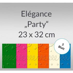 "Elegance ""Party"" 220 g/qm 23 x 32 cm - 5 Blatt"