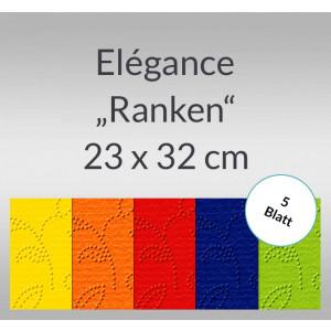 """Elegance """"Ranken"""" 220 g/qm 23 x 32 cm - 5 Blatt"""