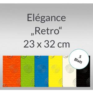 """Elegance """"Retro"""" 220 g/qm 23 x 32 cm - 5 Blatt"""