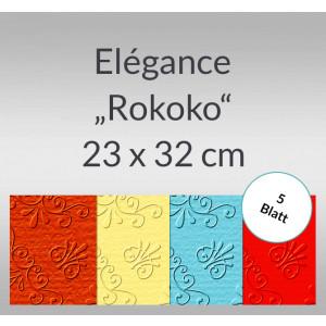 """Elegance """"Rokoko"""" 220 g/qm 23 x 32 cm - 5 Blatt"""