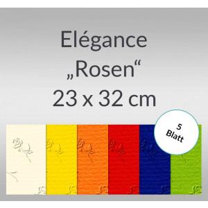 """Elegance """"Rosen"""" 220 g/qm 23 x 32 cm - 5 Blatt"""