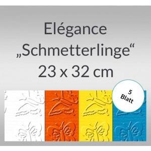 "Elegance ""Schmetterlinge"" 220 g/qm 23 x 32 cm - 5 Blatt"