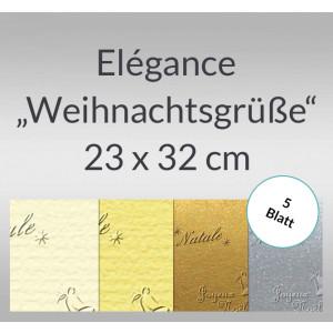 "Elegance ""Weihnachtsgrüße"" 220 g/qm 23 x 32 cm - 5 Blatt"