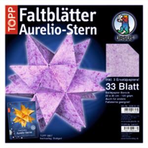 """Faltblätter Aurelio-Stern """"Batikpapier"""" 20 x 20 cm"""