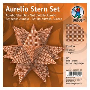 "Faltblätter Aurelio-Stern ""Epsilon"" 15 x 15 cm"