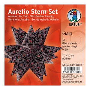 """Faltblätter Aurelio-Stern """"Gala"""" 10 x 10 cm"""