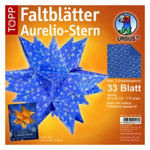 """Faltblätter Aurelio-Stern """"Gloria"""" 20 x 20 cm"""