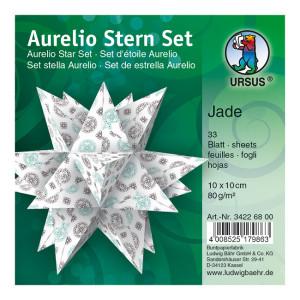 """Faltblätter Aurelio-Stern """"Jade"""" 10 x 10 cm"""