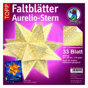 """Faltblätter Aurelio-Stern """"Madras"""" 20 x 20 cm"""