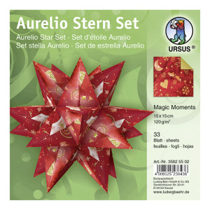 "Faltblätter Aurelio-Stern ""Magic Moments Star Night"""