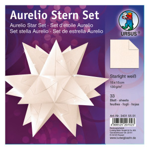 """Faltblätter Aurelio-Stern """"Starlight"""" hochweiß 15 x 15 cm"""