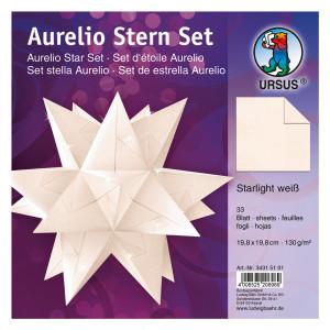 """Faltblätter Aurelio-Stern """"Starlight"""" hochweiß 19,8 x 19,8 cm"""