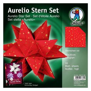 """Faltblätter Aurelio-Stern """"Sternchen rot"""" 20 x 20 cm"""
