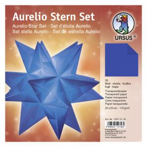 """Faltblätter Aurelio-Stern """"Uni"""" blau 20 x 20 cm"""