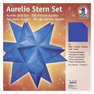 """Faltblätter Aurelio-Stern """"Uni"""" blau 30 x 30 cm"""