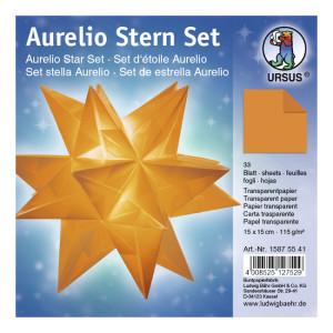 """Faltblätter Aurelio-Stern """"Uni"""" orange 15 x 15 cm"""