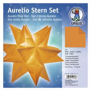 """Faltblätter Aurelio-Stern """"Uni"""" orange 20 x 20 cm"""