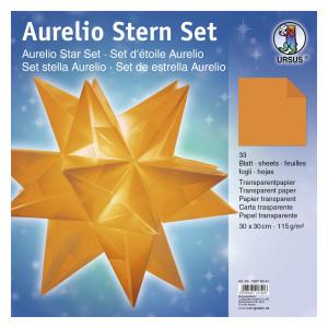 """Faltblätter Aurelio-Stern """"Uni"""" orange 30 x 30 cm"""