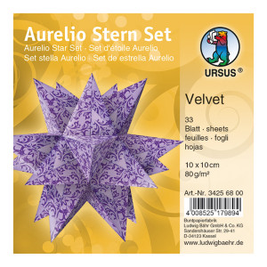 """Faltblätter Aurelio-Stern """"Velvet"""" 10 x 10 cm"""