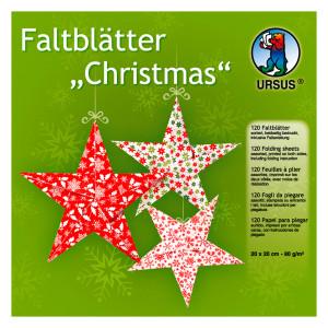 "Faltblätter ""Christmas"" 20 x 20 cm - 120 Blatt"