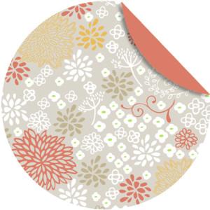 """Faltblätter Florentine """"Chrysanthemen"""" ø 10 cm - Motiv 1"""