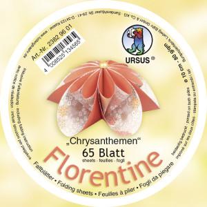 """Faltblätter Florentine """"Chrysanthemen"""" ø 10 cm"""