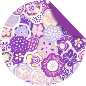 """Faltblätter Florentine """"Flower Power"""" ø 10 cm - Motiv 1"""