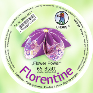 "Faltblätter Florentine ""Flower Power"" ø 10 cm"