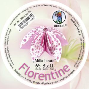 "Faltblätter Florentine ""Millefleurs""  ø 10 cm"