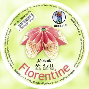 """Faltblätter Florentine """"Mosaik"""" ø 10 cm"""