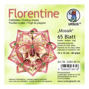 """Faltblätter Florentine """"Mosaik"""" 15 x 15 cm - 65 Blatt"""