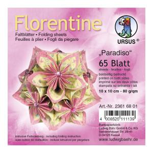 "Faltblätter Florentine ""Paradiso"" 10 x 10 cm - 65 Blatt"