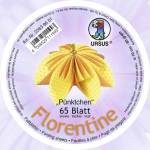 """Faltblätter Florentine """"Pünktchen""""  ø 10 cm"""