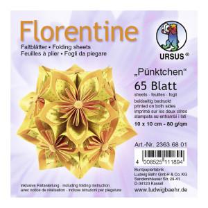 """Faltblätter Florentine """"Pünktchen"""" 10 x 10 cm - 65 Blatt"""