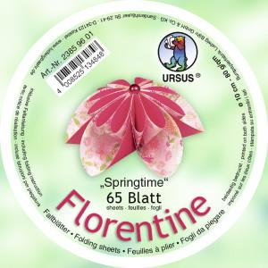 """Faltblätter Florentine """"Springtime"""" ø 10 cm"""