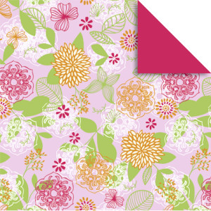 """Faltblätter Florentine """"Springtime"""" 15 x 15 cm - 65 Blatt - Motiv 1"""