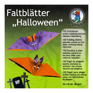 "Faltblätter ""Halloween 2"" 10 x 10 cm - 120 Blatt"