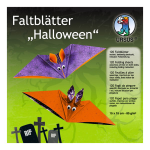 "Faltblätter ""Halloween 2"" 15 x 15 cm - 120 Blatt"