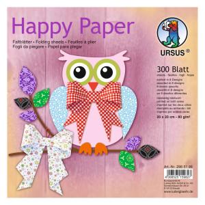 """Faltblätter """"Happy Paper"""" 20 x 20 cm - 300 Blatt"""