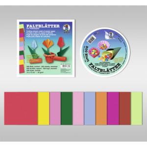 Faltblätter intensiv 65 g/qm 10 x 10 cm - 500 Blatt sortiert