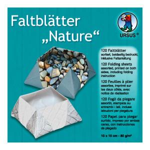 """Faltblätter """"Nature"""" 10 x 10 cm - 120 Blatt"""