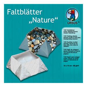 """Faltblätter """"Nature"""" 15 x 15 cm - 120 Blatt"""