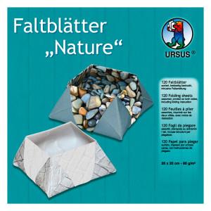 """Faltblätter """"Nature"""" 20 x 20 cm - 120 Blatt"""