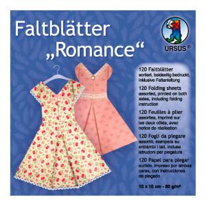"Faltblätter ""Romance"" 10 x 10 cm - 120 Blatt"