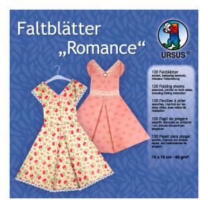 "Faltblätter ""Romance"" 15 x 15 cm - 120 Blatt"