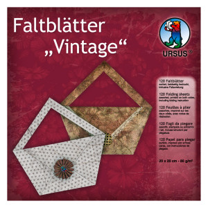 """Faltblätter """"Vintage"""" 20 x 20 cm - 120 Blatt"""